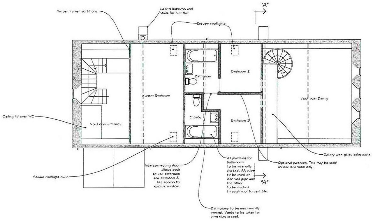 The old church house holbeach lincolnshire for Mezzanine plan